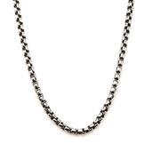 3mm Black Oxidized Bold Box Chain