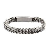 Stainless Steel Triple Curb Chain Bracelet
