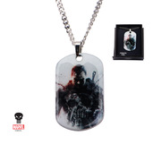 Clear Coated Punisher Pendant Necklace