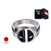 Stainless Steel Deadpool Logo Ring