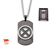 Marvel Black IP X-Men Dog Tag Pendant Chain