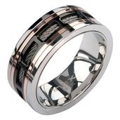 IP Black Spinner Window Steel Ring