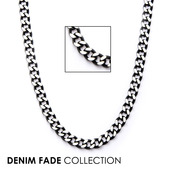 Black IP Diamond Cut Chain Necklace with Lobster Claw Clasp