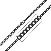 4.8mm Black IP Round Curb Chain