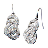 Preciosa Crystal Patterned Dangle Earrings