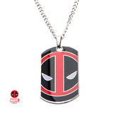 Deadpool Enamel Engrave Dog Tag Pendant