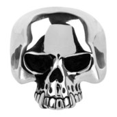 Black Oxidized Skull Ring