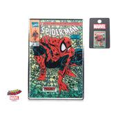 Marvel Base Metal Spider- Man Comic Logo Lapel Pin.