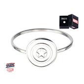 Captain America Shield Logo Polished Ring