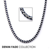 Blue IP Franco Chain Necklace with Lobster Claw Clasp