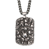 Men's Skulls Dog Tag Pendant with Chain