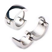 9mm/6mm Inox Jewelry Stainless Steel Huggies Earrings