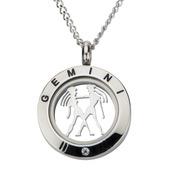Zodiac Gemini Steel Pendant