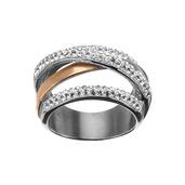 Rose Gold IP Gem Weave Ring