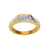Gold IP Crystal Ring