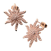 Rose Gold IP with Preciosa Crystal Stud Earrings