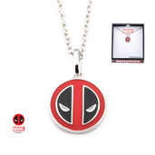 Marvel 925 Sterling Silver Deadpool Face Pendant with Chain