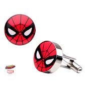 Stainless Steel Spider-Man Logo Cufflinks.