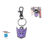 Transformers Base Metal & Black IP Deception Logo Key Chain