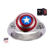 Captain America 3D Shield Ring