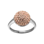 Rose Gold Circle Crystal Ring