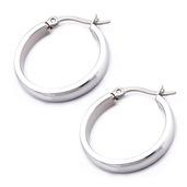 20mm/4mm Stainless Steel Hoop Earrings