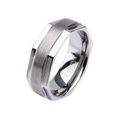 Steel Octagon Shape Ring