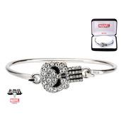 Punisher Clear Gem Bangle Bracelet