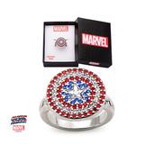 Captain America Logo Bling Ring