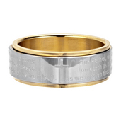 The Lord's Prayer Spinner Ring