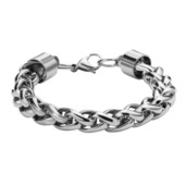 Stainless Steel Wheat Shiny Chain Bracelet with a lobster closure