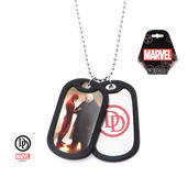 Daredevil Graphic Logo Front Double Dog Tag Necklace