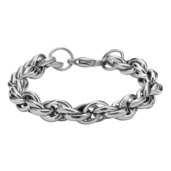 Stainless Steel Multi Rolo Shiny Chain Bracelet with a lobster closure