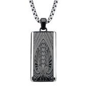 Hollis Bahringer Black IP Engrave Spade Design  with Chain