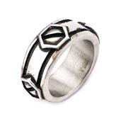 Stainless Steel Brushed Gunmetal Finish Screw Ring