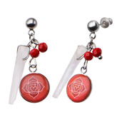 Red Root Chakra Arts Earrings