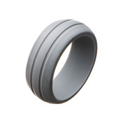 Men's Silicone Safety Bands for Active Lifestyles in Grey
