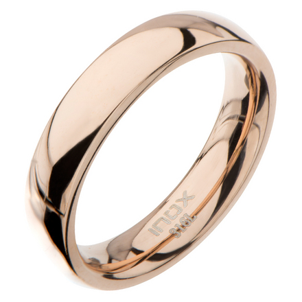 High Polished 4mm Plain Rose Gold Wedding Band picture