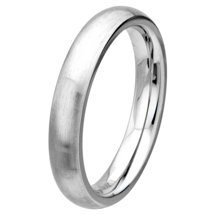 Matte Finish 4mm Wide Plain Cobalt Chrome Ring picture
