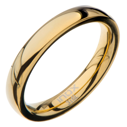 High Polished 3mm Plain Gold Wedding Band picture