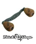 Trickshop Carbon Matte Black KP Handle assembly w/Cork Knobs