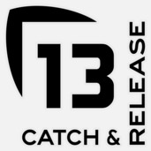 13 Catch and Release Decal MEDIUM BLACK