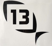 13 Black Decal Small