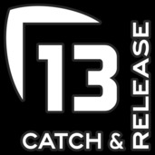 13 Catch and Release Decal Medium WHITE