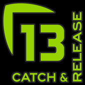 13 Catch and Release Decal Medium GREEN