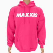 Sweatshirt-Hooded Pullover Bright Pink S