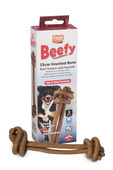 Beef Tendon with Rawhide Knotted Bone 2pk