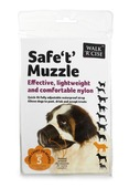 Safe 't' Muzzle Size 5 black nose