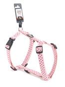 Dotted Dog Harness - Medium Purple/Pink
