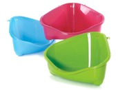 Corner Litter Pan Large orange, fun green, royal blue
